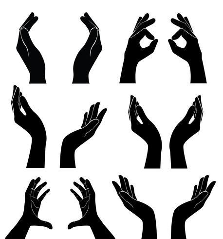 mains libres tenant vecteur