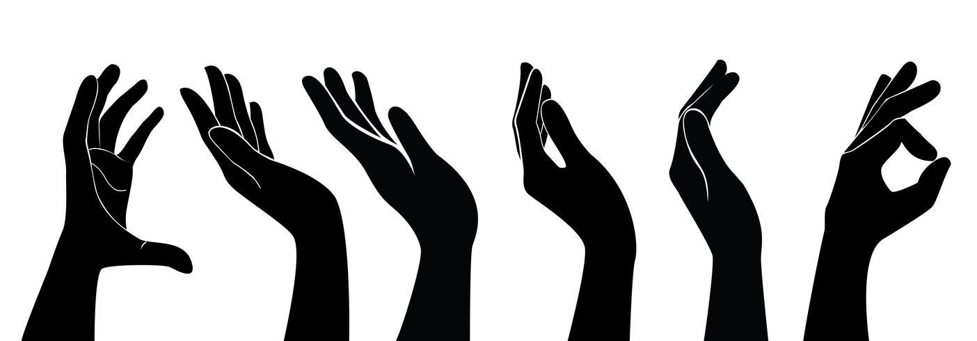 conjunto de vetores de mãos livres