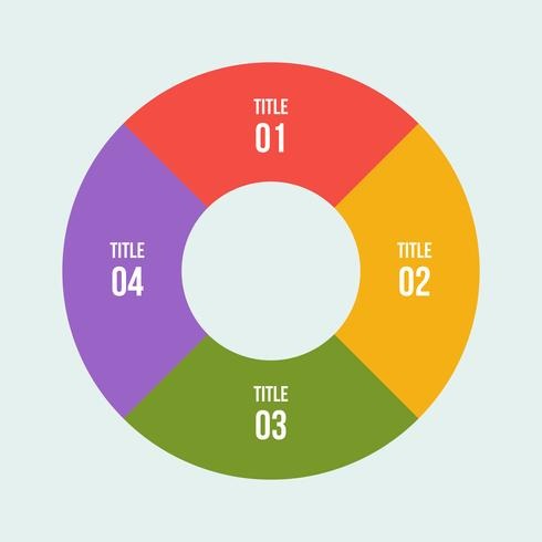 Pie chart, Circle infographic or Circular diagram