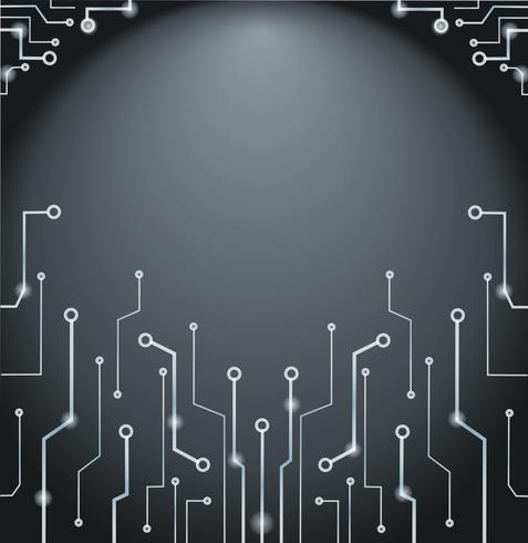 Abstrakt teknologi linjer konst och utrymme bakgrund