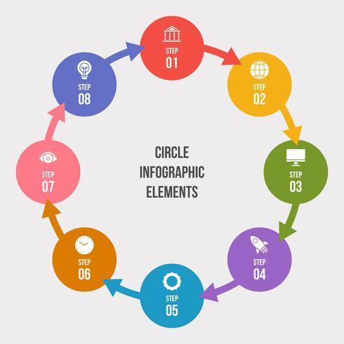 Grafico a cerchio, cerchio infografica o diagramma circolare