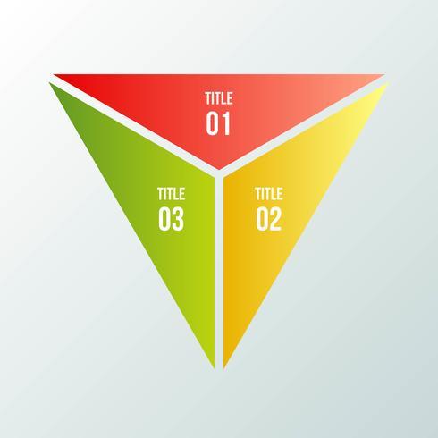 Cirkeldiagram, geometrische infographic met driehoeksvorm