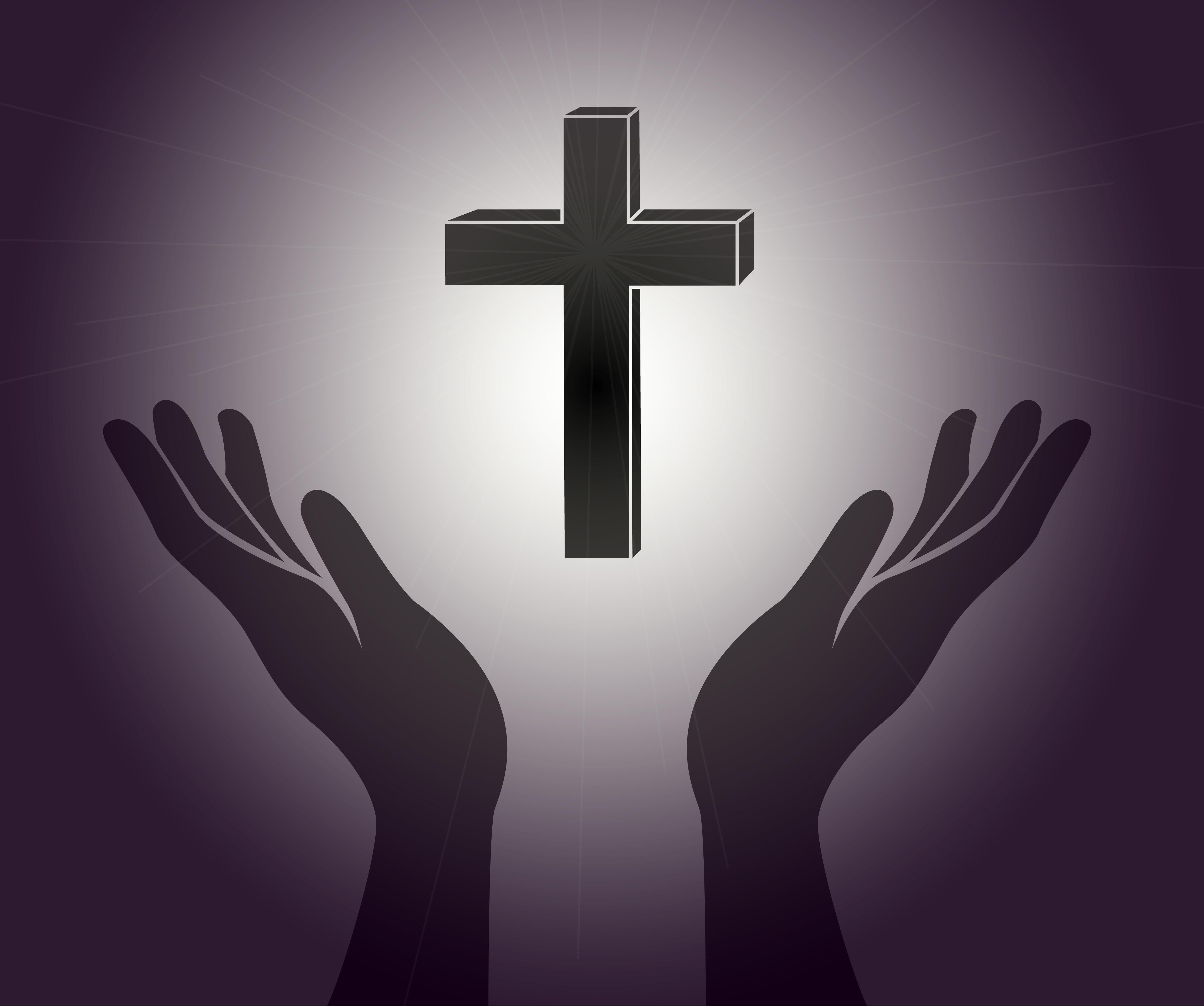 Hand und das Jesus Chr...