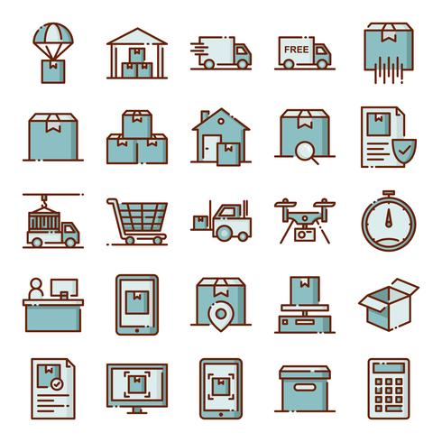 Logistische Icons Pack vektor