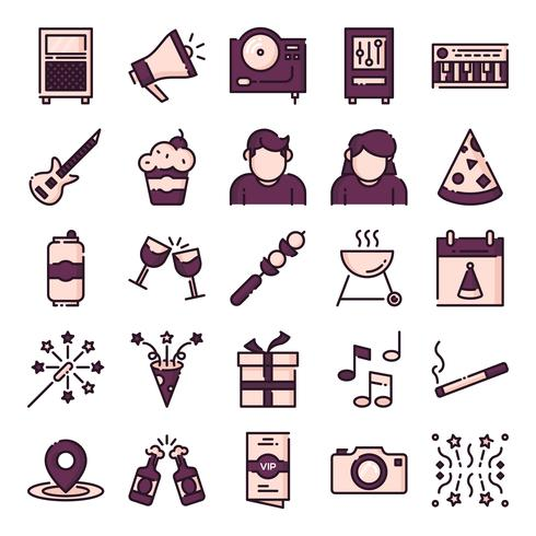 Party Icons Pack vektor