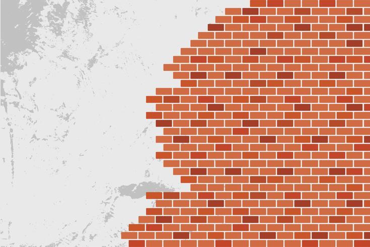 Fondo abstracto de pared de ladrillo marrón - diseño vectorial vector