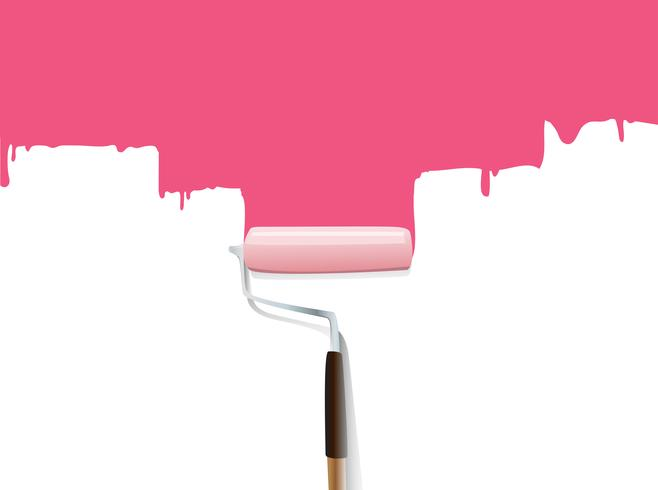 Paintbrush  Paint  the wall  vector