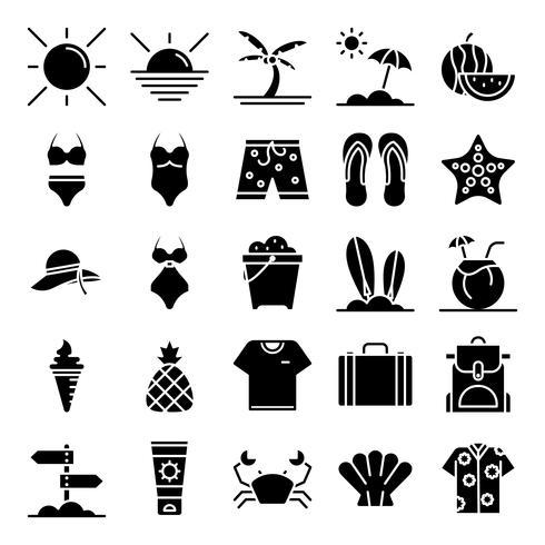Pacote de ícones de verão