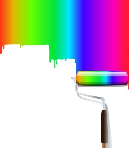 rainbow paintbrush colorful vector background