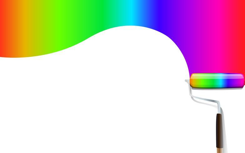 Fondo de vector colorido pincel de arco iris