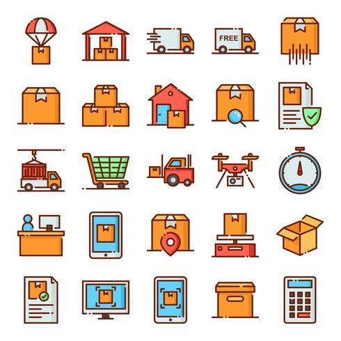 Pack de iconos logisticos