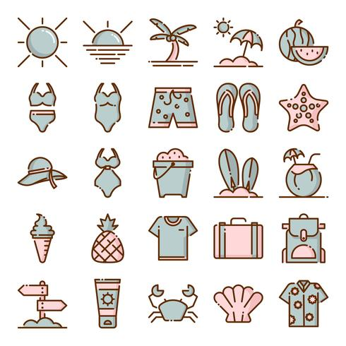 Pack de iconos de verano