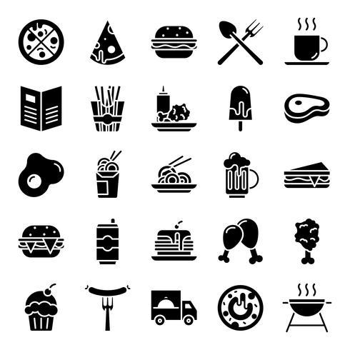 Pacchetto di icone di fast food vettore