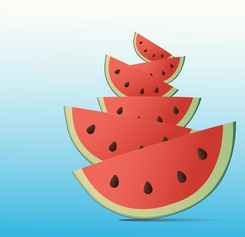 watermelon cartoon background
