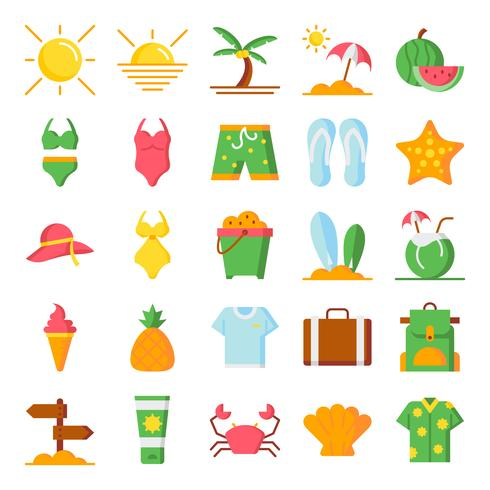 Summer icons pack - Download Free Vector Art, Stock Graphics