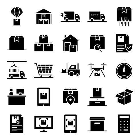 Logistic icons pack vector