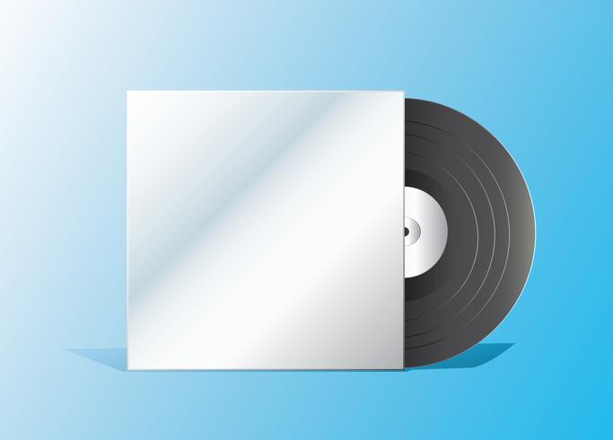 record and empty cover vector