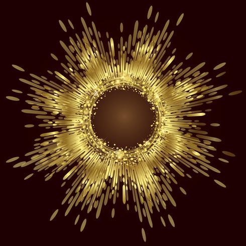 Vector de fondo abstracto de oro, fondo abstracto