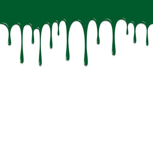 Chute de couleur verte, illustration vectorielle fond coloré