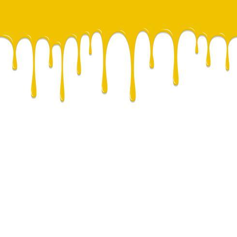 Chute de couleur jaune, illustration vectorielle fond coloré