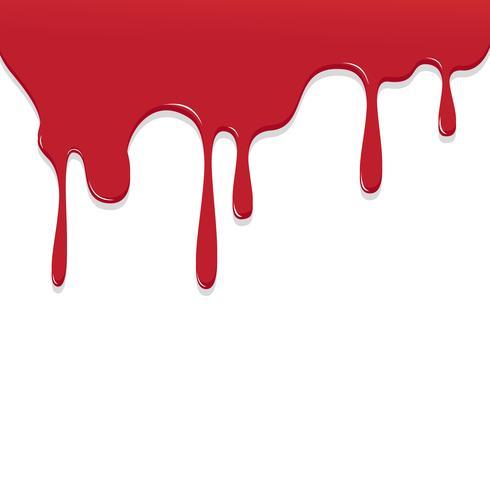 Dipinga lo sgocciolamento di colore rosso, illustrazione di vettore del fondo di goccia di colore