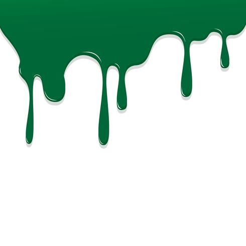 Paint Green color dripping, Color Droping Background vector illustration