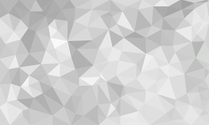 abstrato cinza, formas de triângulo texturizado poli baixo em padrão aleatório, fundo lowpoly na moda vetor