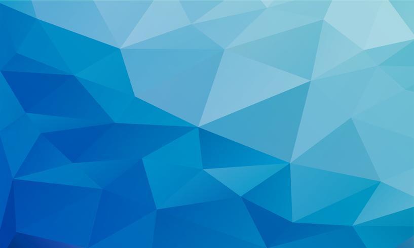 abstrato azul, formas de baixo poli texturizado triângulo em padrão aleatório, fundo lowpoly na moda vetor