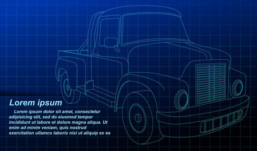 Overzicht van het voertuig. vector