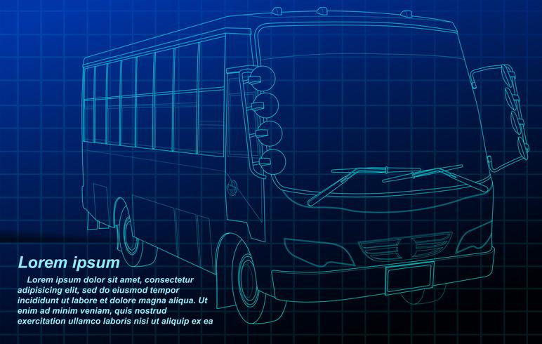 Vehicle outline. vector