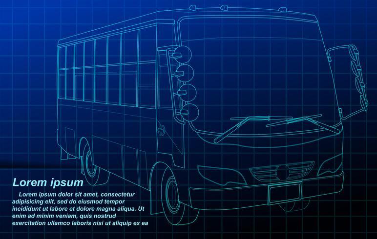 Bilplan. vektor