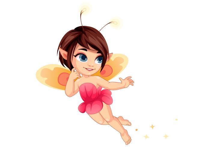 Little flower fairy 2 vector