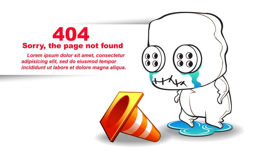 not found page. vector