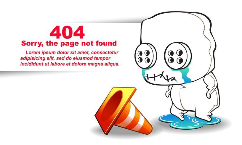 página não encontrada. vetor