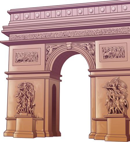 Vektor isolerad båge Titus i tecknad stil.