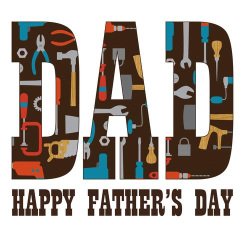 Father's Day typography graphic with tools