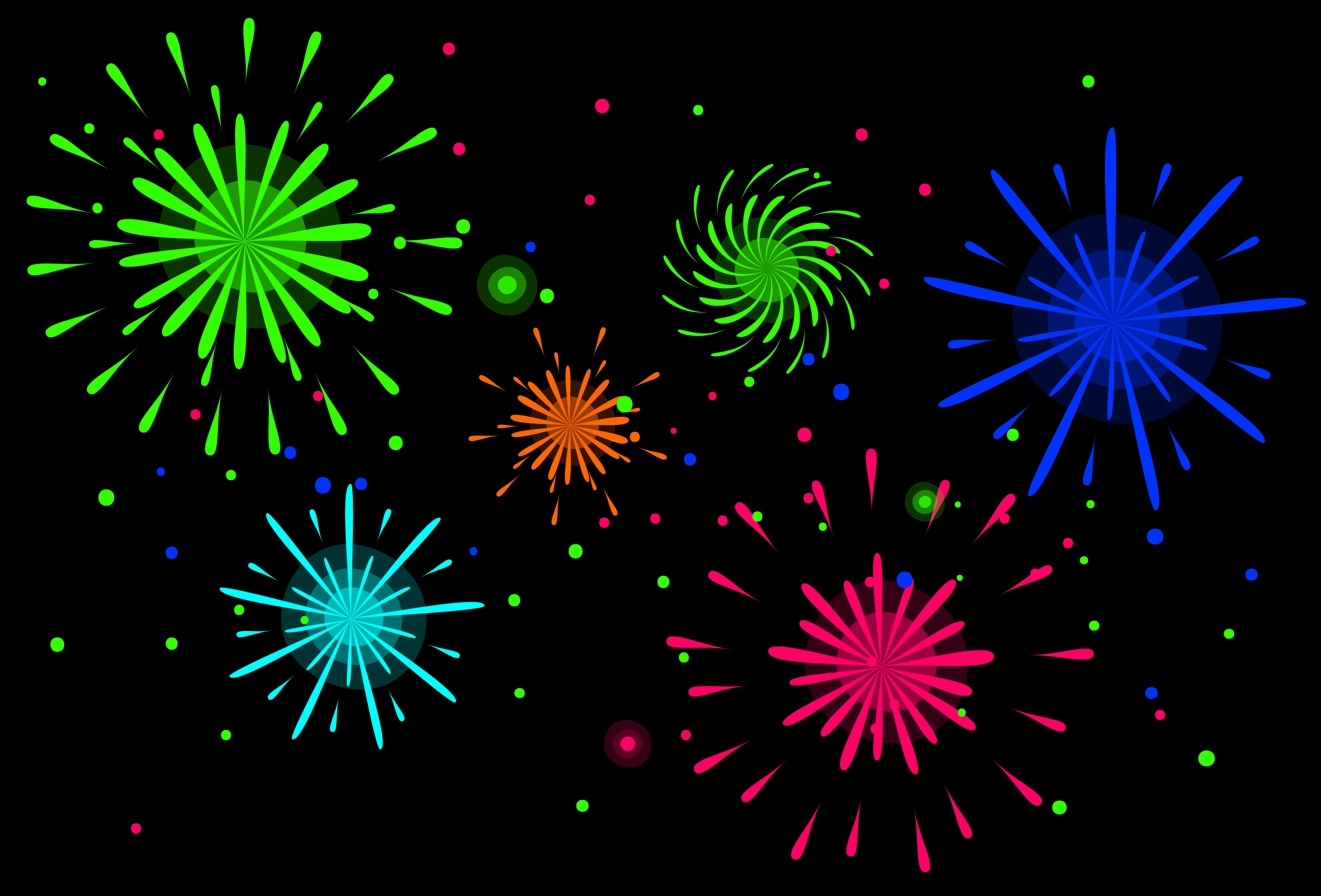 Neon Colored Diwali Fireworks Wallpaper Download Free