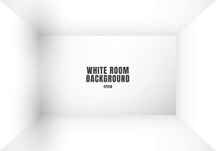 3D empty white room modern blank interior background.