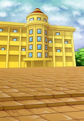 Un bâtiment sur l'illustration vectorielle au sol.