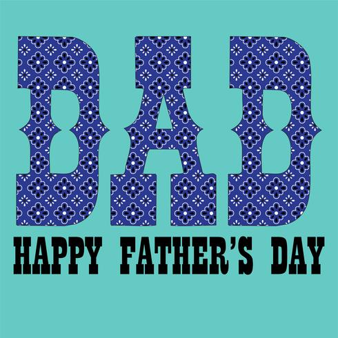 Father's Day blue bandana pattern typography graphic vector