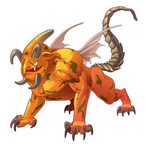 Dragon est un animal dans les contes de fées. vecteur