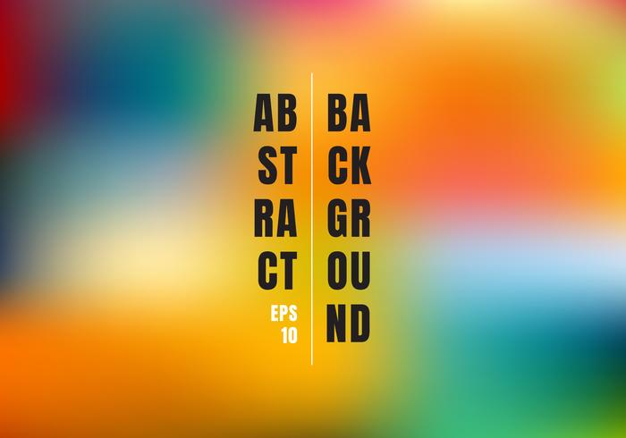 Abstract blurred gradient mesh colorful background. Bright rainbow colors smooth template banner. vector