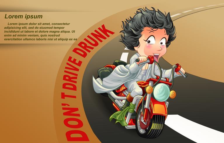Rider berättar att du inte kör om du är full. vektor