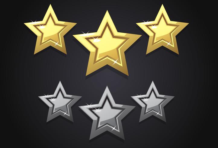 Icona di tre stelle di valutazione d'oro