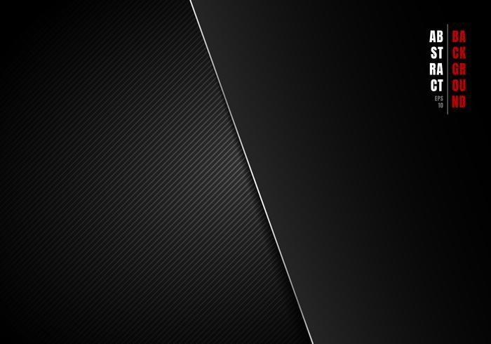 Abstracte sjabloon gestreepte lijnen zwart en grijs gradient achtergrond