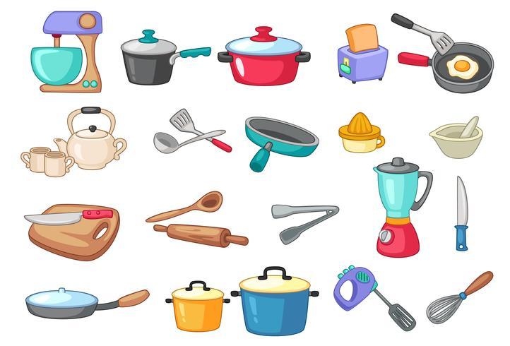 Ilustración de vector de utensilios de cocina