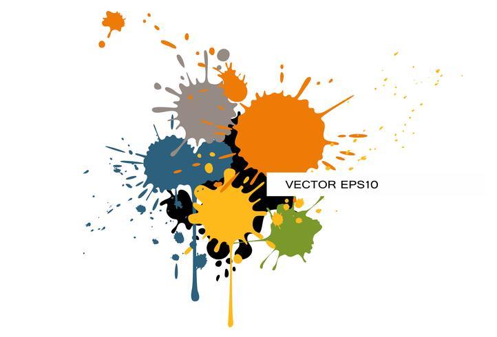 Plantilla de folleto moderno con salpicaduras de color vector
