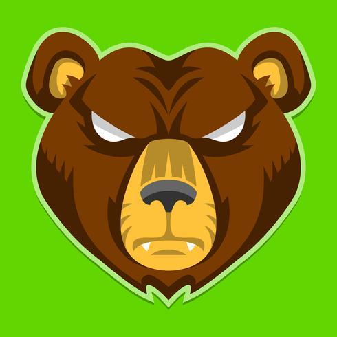 Grizzly björn klo vektor illustration