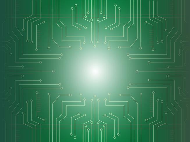 microchip light background vector