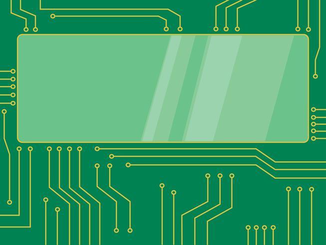 bannière de dessin animé pour le vecteur microchip